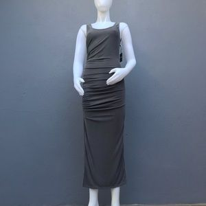 Forever 21 Gray Striped Long Dress Size Small